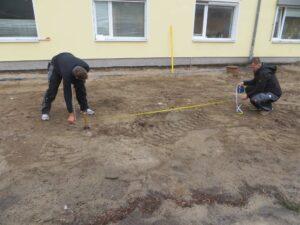 Achsmaße der Fundamente markieren
