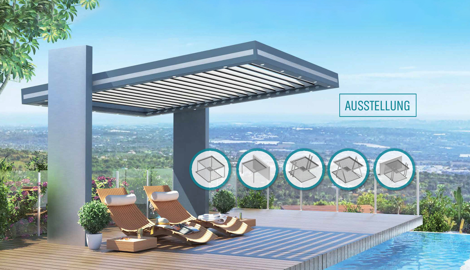 Terrassendach Ausstellung