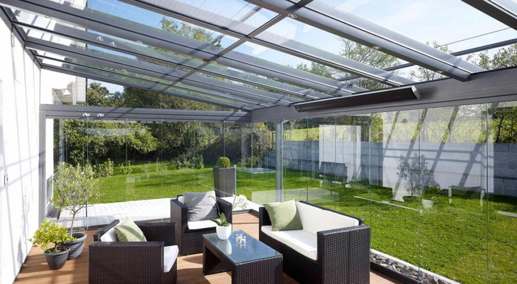 Terrassendach ohne Sonnenschutz
