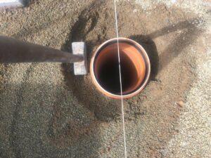 KG-Rohr Arretierung mit Beton