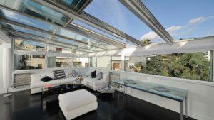 Terrassen-Glasschiebedach