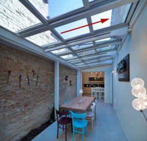 Terrassendach einfahrbar